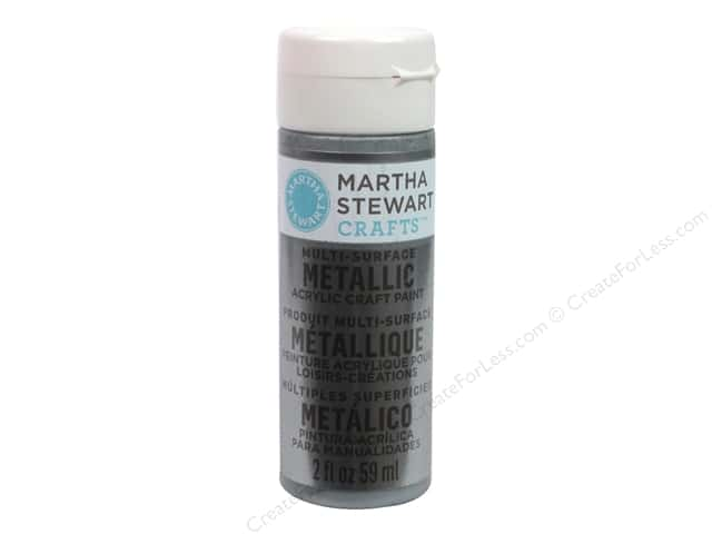 Martha Stewart Craft Paint by Plaid Metallic Titanium 2 oz.