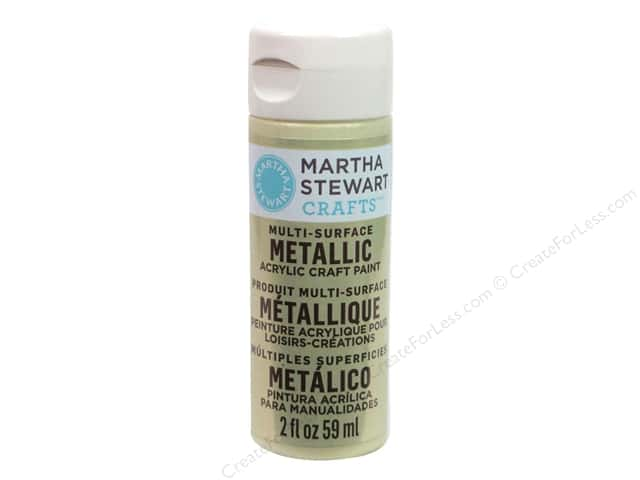 Martha Stewart Craft Paint by Plaid Metallic Light Gold 2 oz.