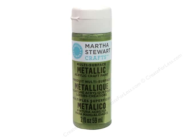 Martha Stewart Craft Paint by Plaid Metallic Citrine Gold 2 oz.