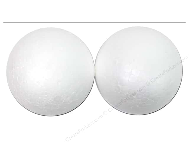 Darice Durafoam Balls 3 in. White 2 pc.