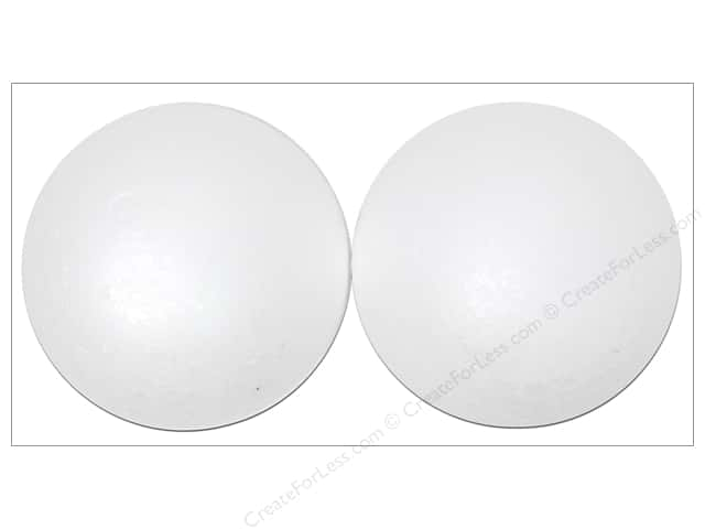 Darice Durafoam Balls 4 in. White 2 pc.