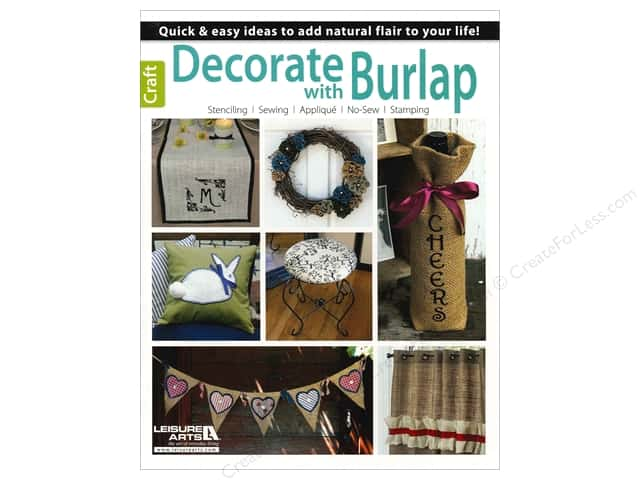Decorate With Burlap Book by Jennifer & Kitty O'Neil