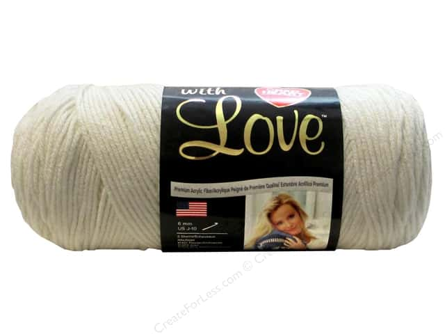 Red Heart With Love Yarn 370 yd. #1101 Eggshell