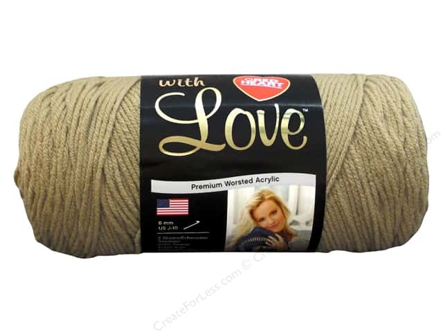 Red Heart With Love Yarn 370 yd. #1308 Tan