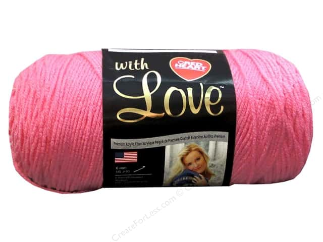 Red Heart With Love Yarn #1704 Bubblegum 370 yd.