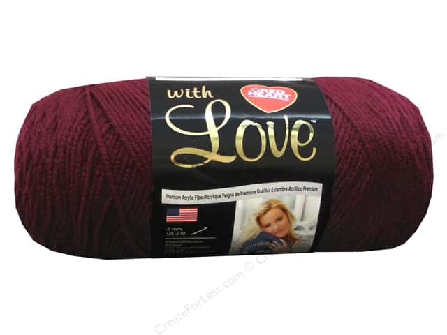 Red Heart With Love Yarn 370 yd. #1915 Merlot