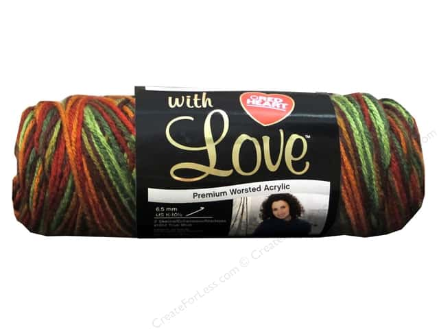Red Heart With Love Yarn #1934 Autumn 230 yd.