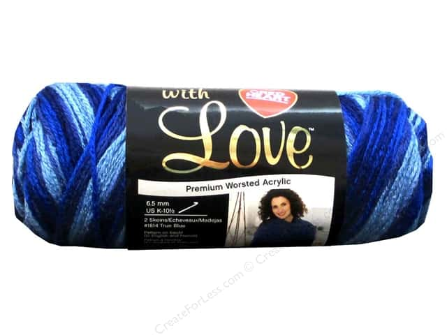 Red Heart With Love Yarn #1937 Deep Blues 230 yd.