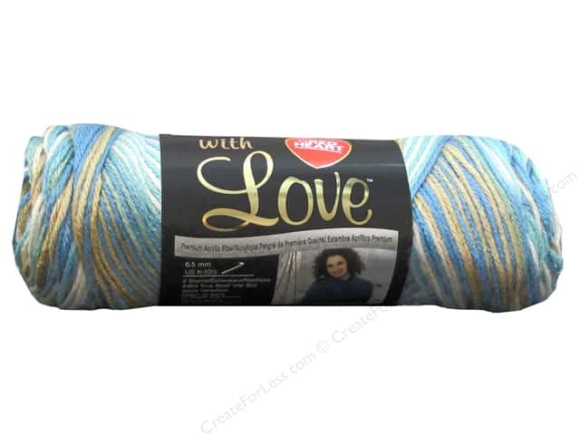 Red Heart With Love Yarn #1938 Beachy 230 yd.