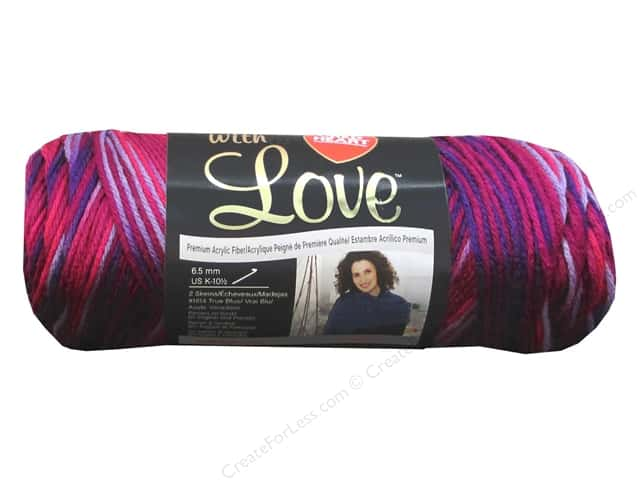 Red Heart With Love Yarn #1942 Plum Jam 230 yd.