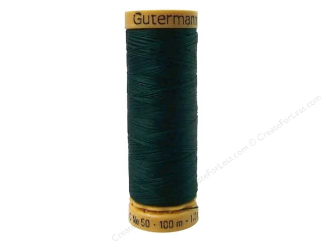 Gutermann 100% Natural Cotton Sewing Thread 109 yd. #8080 Green Black