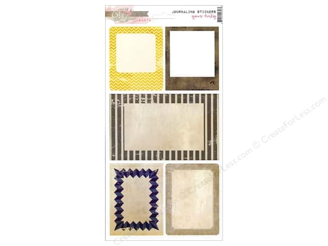 Glitz Design Sticker Cardstock Yours Truly Journal