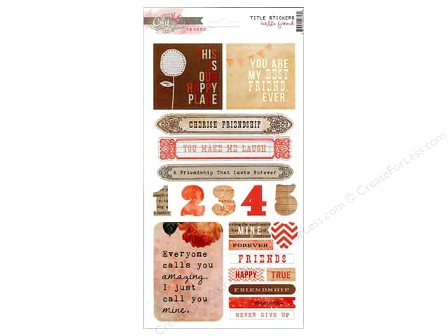 Glitz Design Sticker Cardstock Hello Friend Title