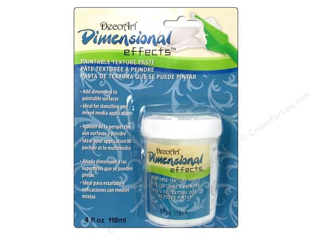 DecoArt Dimensional Effects Texture Paste Carded 4oz