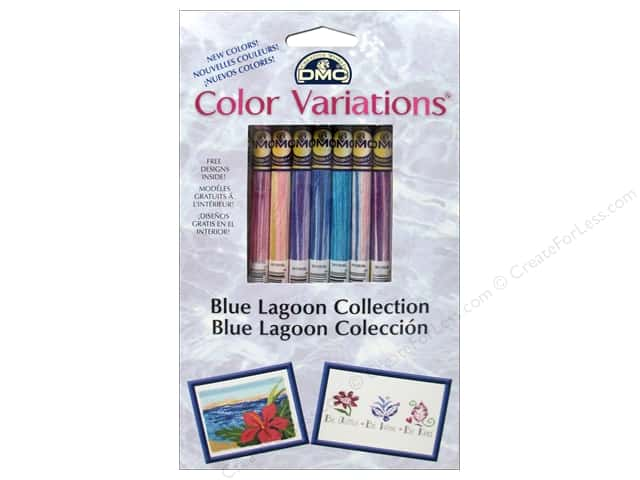 DMC Color Variations Floss Packn 8 pc. Blue Lagoon Collectio