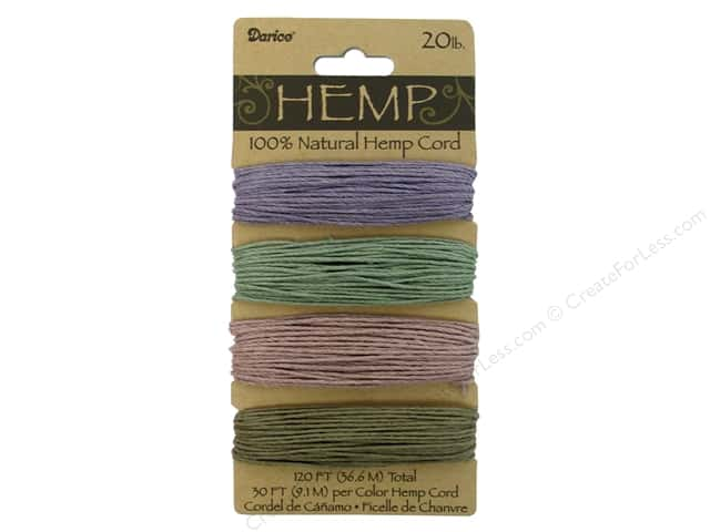Darice Hemp Cord Set 4 pc. 20 lb. Vintage Green/Purple