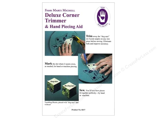 Marti Michell Template Deluxe Corner Trimmer & Piecing Aid