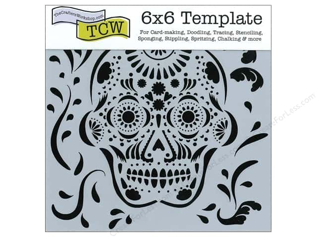 The Crafter's Workshop Template 6 x 6 in. Mexican Skull