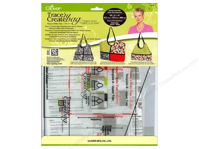 Clover Trace 'n Create Bag Templates with Nancy Zieman - Hobo Tote Collection