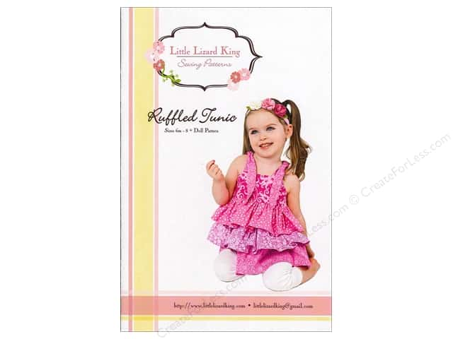 Little Lizard King Ruffled Tunic Sizes 6M-10 Pattern
