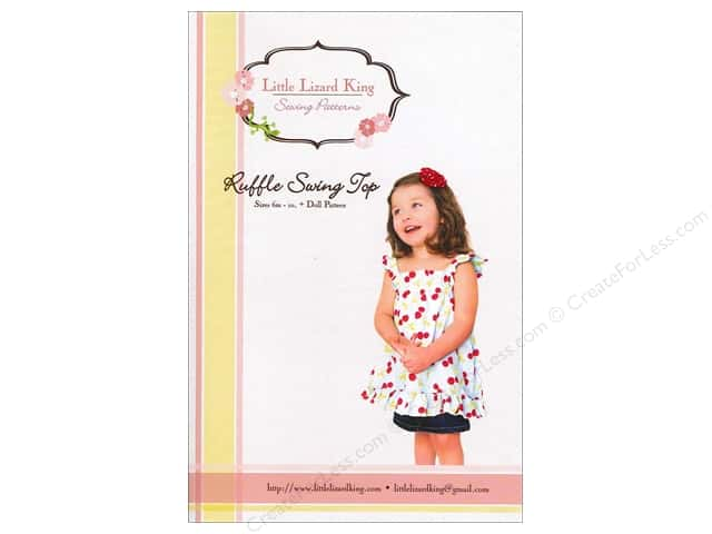 Little Lizard King Ruffle Swing Top Sizes 6M-10 Pattern