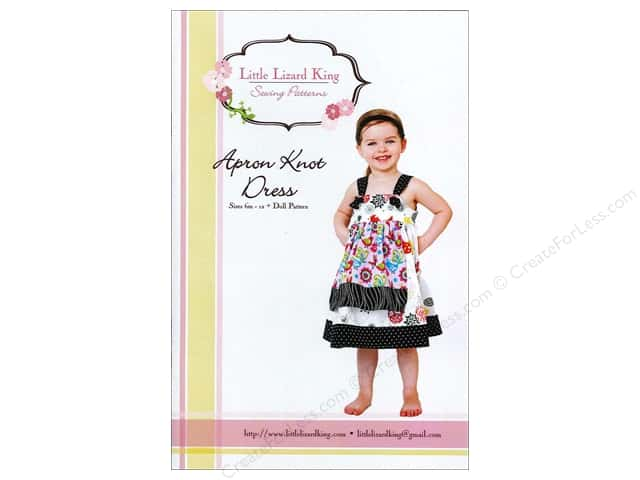 Little Lizard King Apron Knot Dress Sizes 6M-12 Pattern