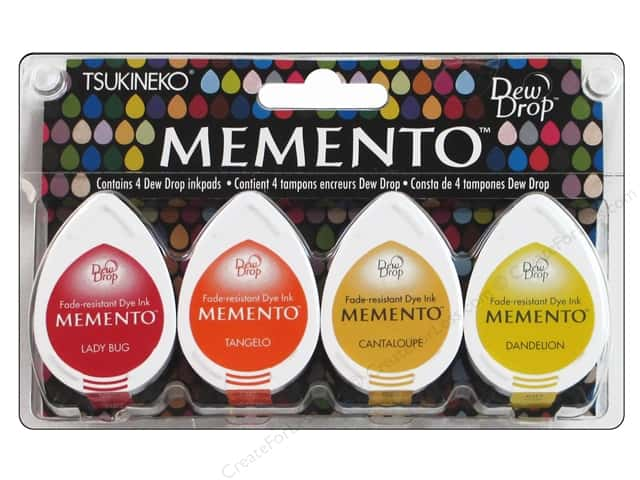 Tsukineko Memento Dye Ink Dew Drop Stamp Pad Set of 4 Camp Fire