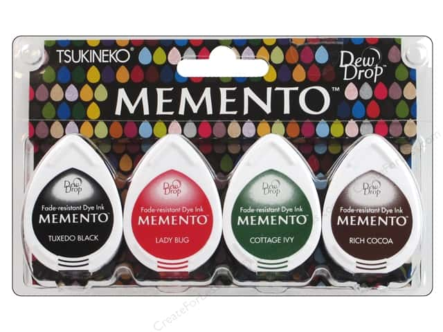 Tsukineko Memento Dye Ink Dew Drop Stamp Pad Set of 4 Gotta Have