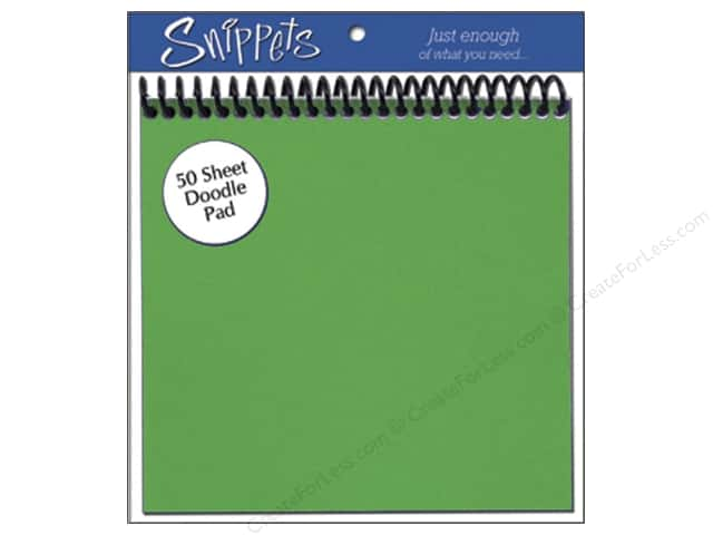 Doodle Pad by Paper Accents 6 x 6 in. Green