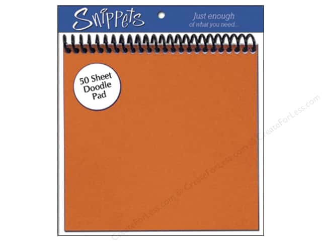 Doodle Pad by Paper Accents 6 x 6 in. Orange