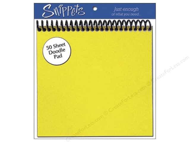 Doodle Pad by Paper Accents 6 x 6 in. Yellow