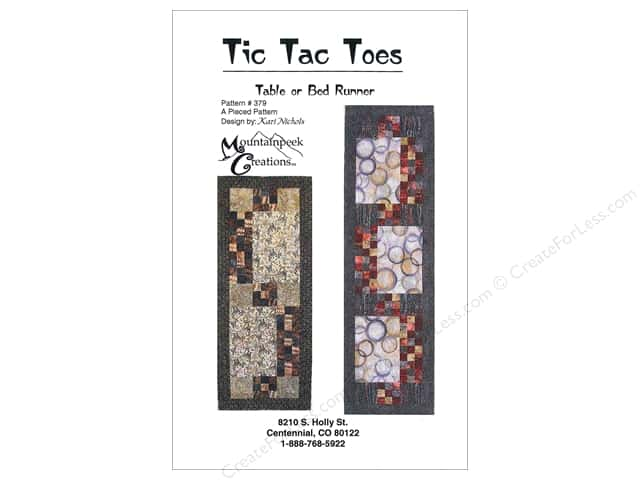 Mountainpeek Creations Tic Tac Toes Table Runner Pattern