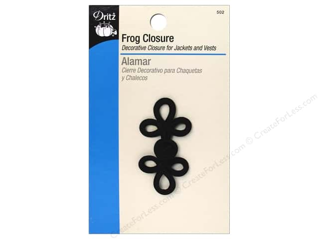 Frog Closure by Dritz 3 Loop 2 in. Black