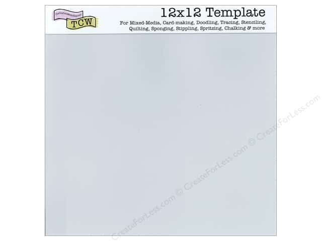 The Crafter's Workshop Template 12 x 12 in. Blank Sheet 3 pc.
