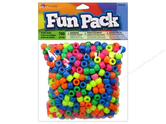 Cousin Bead Fun Pack Pony Neon 700pc