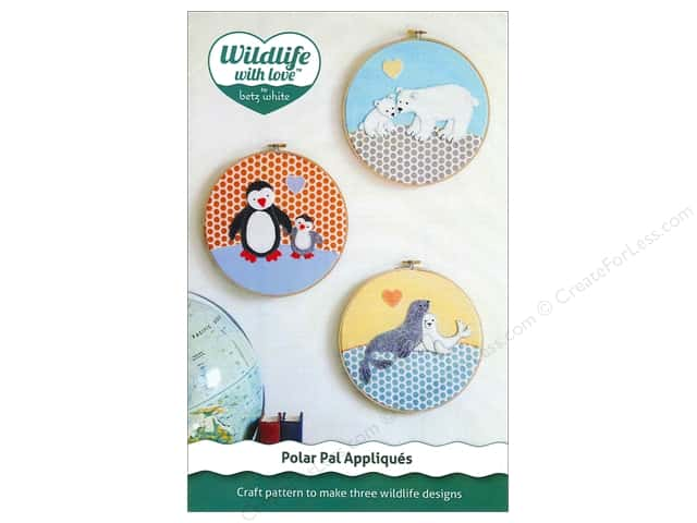 Wildlife with Love by Betz White Polar Pal Appliques Pattern