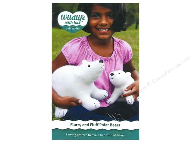 Wildlife with Love by Betz White Flurry And Fluff Polar Bears Pattern