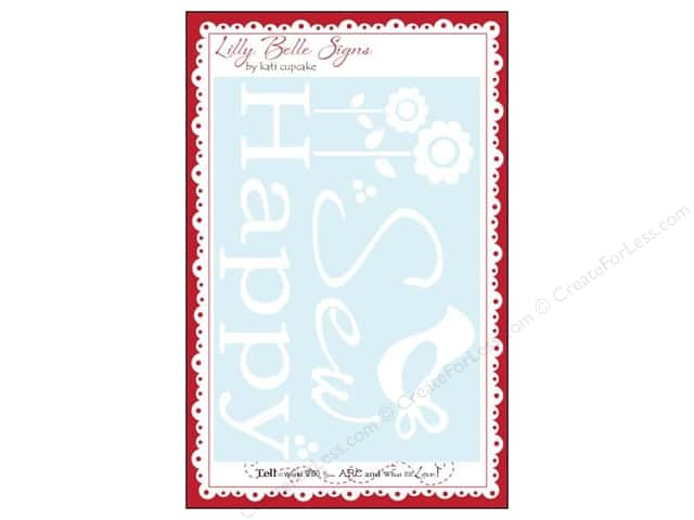 Kati Cupcake Lilly Belle Signs Decal Sew Happy Car White