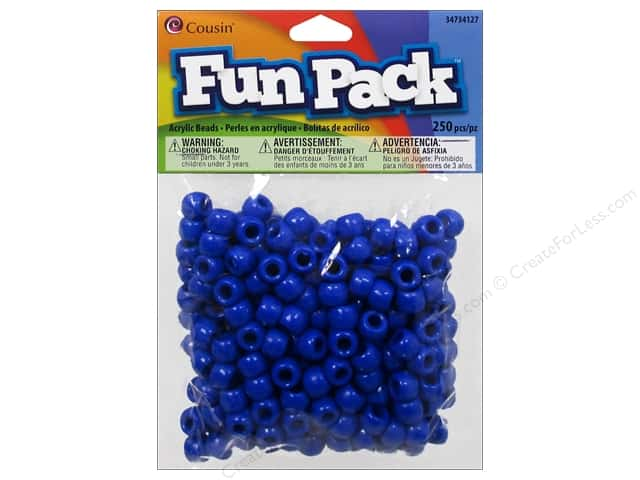 Cousin Bead Fun Pack Pony Blue 250pc