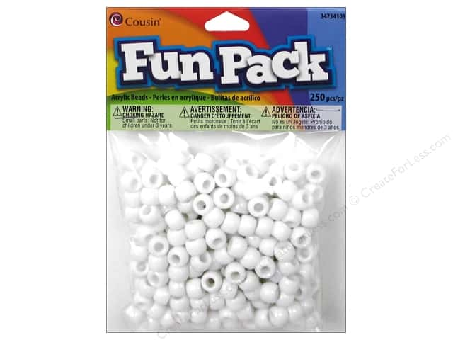 Cousin Bead Fun Pack Pony White 250pc