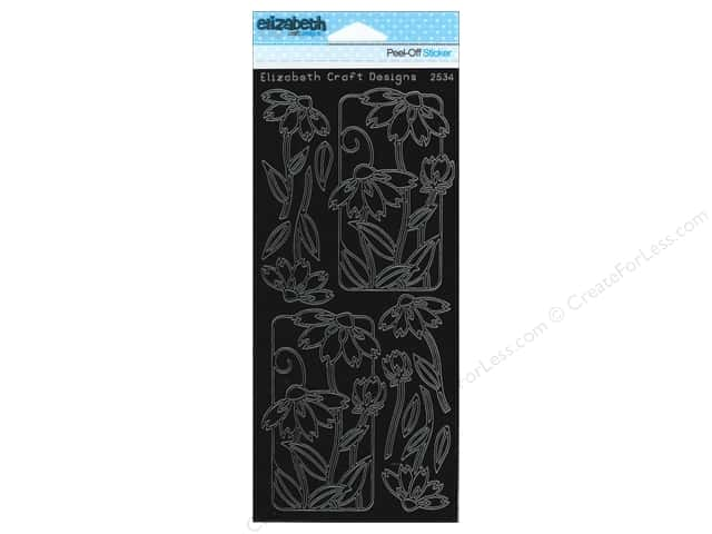 Elizabeth Craft Peel Off Stickers Flower Frame 2 Black