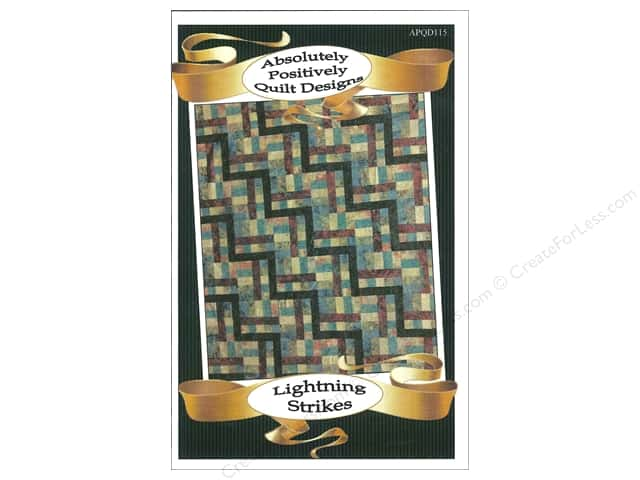 Absolutely Positively Quilt Designs Lightning Strikes Pattern