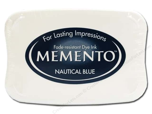Tsukineko Memento Dye Ink Stamp Pad Nautical Blue
