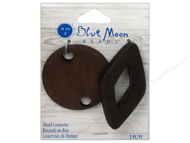 Blue Moon Beads Wood Connectors 2 pc. Round & Diamond