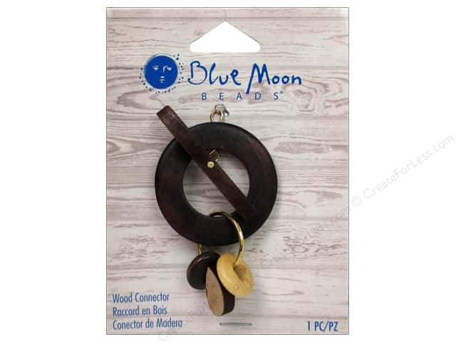 Blue Moon Beads Wood Connector Toggle with Beads