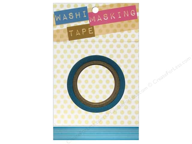 "Darice Tape Washi Masking 5/8"" Horizontal Stripe Blue 8m"