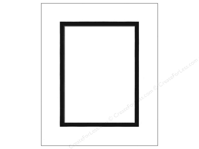 Pre-cut Double Photo Mat Board by Accent Design Black Core 8 x 10 in. for 5 x 7 in. Photo White/Black