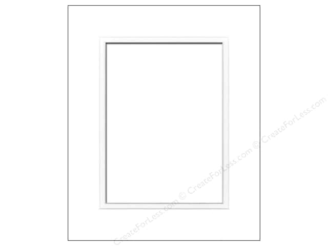 Pre-cut Double Photo Mat Board by Accent Design White Core 8 x 10 in. for 5 x 7 in. Photo Soft White/Soft White