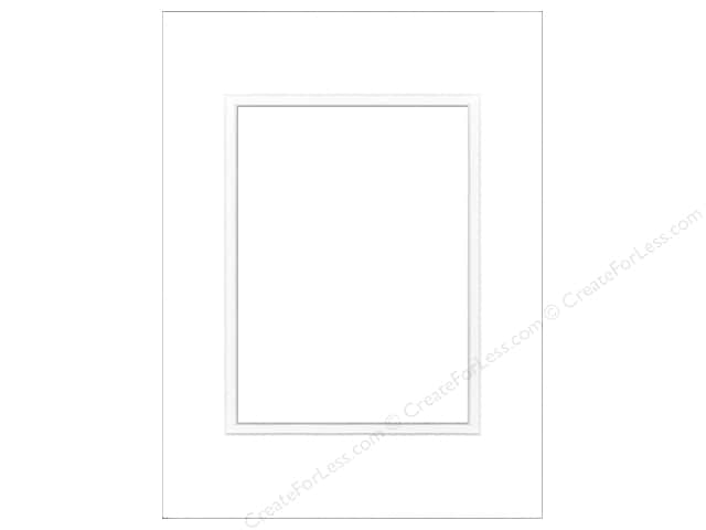 Pre-cut Double Photo Mat Board by Accent Design White Core 9 x 12 in. for 6 x 8 in. Photo Soft White/Soft White