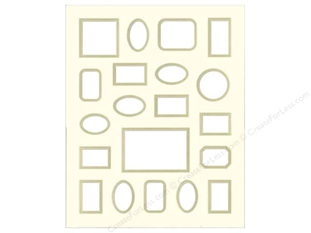 PA Framing Pre-cut Double Photo Mat Board Cream Core 16 x 20 in. 20 Openings Antique White/Gold